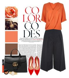 """""""Color Codes"""" by weeyz ❤ liked on Polyvore featuring Erdem, Gianvito Rossi, Gucci, NARS Cosmetics, Kate Spade, Bobbi Brown Cosmetics, women's clothing, women, female and woman"""