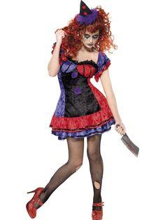 Women's Cirque Sinister Bo Bo the Clown Costume