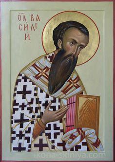 Basil by Anton & Ekaterina Daineko St Basil's, Orthodox Christianity, Orthodox Icons, More Icon, Christian Art, Religious Art, Saints, Jesus Christ, Mona Lisa