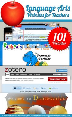 101 Language Arts Websites for Teachers http://bestteacherblog.com/101-english-language-arts-websites-teachers/