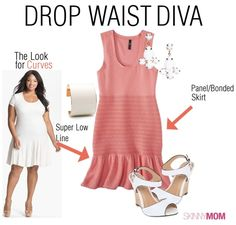Fashion Friday! Drop Waist Diva, The Look For Curves! Great fashion trend outfit for curvy women!