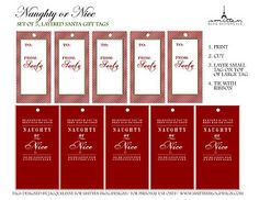 Free printable tags from Santa <3