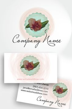 I'm excited to share with you one of my most recent logo and branding creations. I had so much fun drawing this sweet little rose bud logo and business card design. It is available in my shop at www.VGLogoDesigns.etsy.com