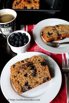 Blueberry Ricotta Yogurt Bread. Change the canola oil to applesauce. Flour to gluten free.