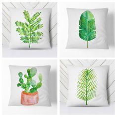 Tropical print throw pillows  #decor #decoration #tropical