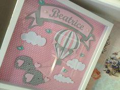 Quadro balão com elefantinhos Hobbies And Crafts, Diy And Crafts, Paper Crafts, Scrapbook Albums, Scrapbook Cards, Personalised Frames, Paper Illustration, Baby Christening, Shadow Box Frames