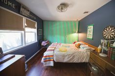 Paint colors that match this Apartment Therapy photo: SW 2740 Mineral Gray, SW 6466 Grandview, SW 6444 Lounge Green, SW 6076 Turkish Coffee, SW 7672 Knitting Needles