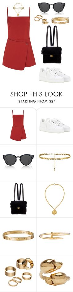 """""""Sin título #932"""" by elipenaserrano ❤ liked on Polyvore featuring Opening Ceremony, Loro Piana, Christian Dior, Chanel, Susan Caplan Vintage, Cartier, Apt. 9 and Alexander McQueen"""