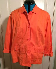 $25.00 Chico's Orange Size 3 Jacket #Chicos #BasicJacket