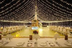 Stying and setup of Lighting, tables and chairs with table center pieces by Paradise Bride. Photography By: Three loose coconuts Tour Manager, Table Centers, Wedding Receptions, Table Centerpieces, Paradise, Bride Photography, Tours, Coconuts, Center Pieces