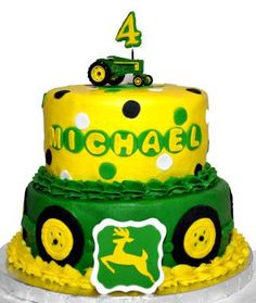 John Deere Birthday Cake.  I know who would LOVE this one....