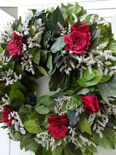 Salal Wreath   Preserved Salal Wreath With by donnahubbard on Etsy