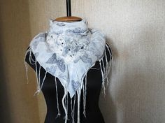 Бактус, шарф-косынка из хлопка и натуральной шерсти.