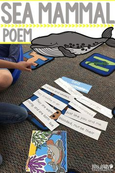 Poetry for May! Shared reading on sea mammal life set to a familiar tune. Use in whole group, small group, or as a center. Perfect for kindergarten and first grade.