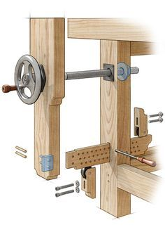 Workbench Leg Vise. Pictorial only. More