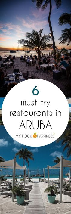 Try the best of the Aruba's local cuisine at these 6 amazing restaurants, 3 of which are located right on the beach and ensure a romantic dinner by the the Caribbean sea. In this post you will also find out which are the top local foods to try during your holiday in Aruba. #romantictravellocations