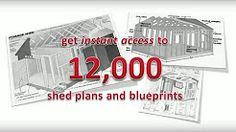 Start building amazing sheds the easier way with a collection of 12,000 shed plans!