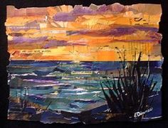 kauaii collage eileen downes ocean beach sunset