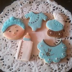 Galletas baby shower boy