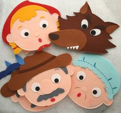 Little red riding hood felt characters
