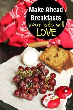 Summer calls for easy eating. Whether you've got early risers or are heading out on an epic road trip, consider these make ahead breakfast ideas that are fun for kids of all ages!  Make Ahead Breakfast Ideas Your Kids Will Love http://lifeasmom.com/make-ahead-breakfast/