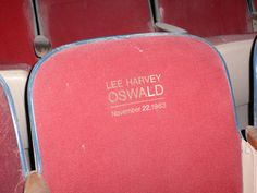 Lee Harvey Oswald's seat in the Texas Theatre in Dallas