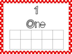 Here's a set of blank ten frames from 1-10 for use in hands-on activities.
