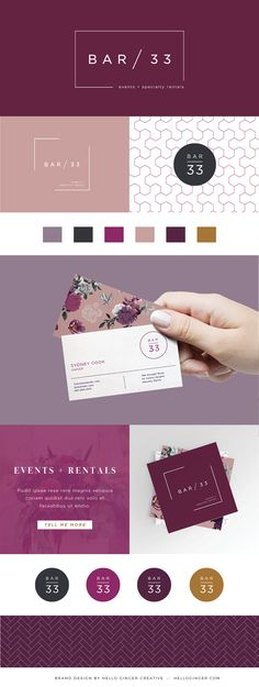 Bold, powerful, feminine branding | Brand design by Hello Ginger Creative