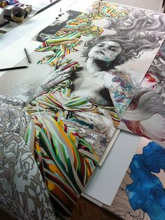 Gabriel Moreno- this is truly fearless mixed media.