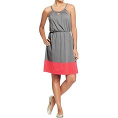 Old Navy Womens Sleeveless Color Blocked Dresses ($33) ❤ liked on Polyvore