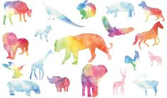 Watercolor Animals Set by 3ab2ou on @creativemarket