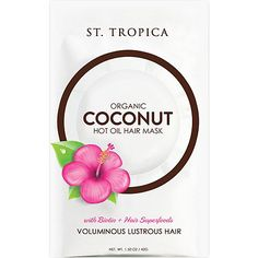 Coconut is The absolute best for your hair! Klomax- St. Tropica Organic Coconut Hot Oil Hair Mask with Biotin + Superfoods