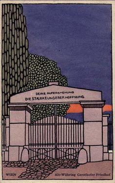 26. Emil Hoppe, Wiener Werkstätte postcards