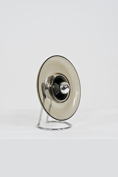 Pierre Cardin; Chromed Metal and Glass Table Lamp for Venini, c1970.