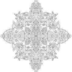 Krita Mandala 7 by WelshPixie on DeviantArt Mandala Coloring Pages, Coloring Book Pages, Black And White Drawing, Stencil Designs, Line Drawing, Textiles, Snowflake Pattern, Drawings, Clean Eating