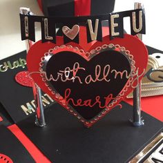 I love you Explosion Box With 4 Waterfall In Black red and silver, Design & Craft, Others on Carousell Valentines Gifts For Boyfriend, Valentines Diy, Boyfriend Gifts, Love Gifts, Diy Gifts, Box Art, Art Boxes, Exploding Box Card, Singapore Singapore