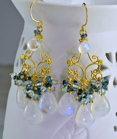 Ametrine chandelier earrings honey topaz amethyst 14k gold filled moonstone chandelier earrings london blue topaz swiss blue topaz 14k gold filled wire wrapped earrings mozeypictures Gallery