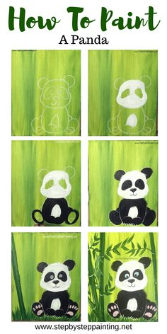 How To Paint A Panda This is a super easy acrylic painting tutorial that comes with a free template traceable for the panda. Learn how to paint a cute panda using only a few paint colors. Great for the absolute beginner and kids! Simple Canvas Paintings, Easy Canvas Painting, Diy Painting, Painting & Drawing, Easy Acrylic Paintings, Acrylic Painting For Kids, Colorful Paintings, Art Mini Toile, Canvas Painting Tutorials