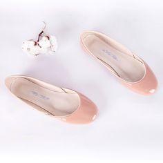 tea rose ballet flats