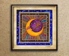 To the moon artwork Dan Morris, Moon Pillow, Moon Symbols, Carpe Noctem, Moon Art, Sun Moon Stars, Fine Art Paper, Decorative Pillow Covers, Dorm Decorations