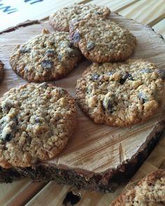 Cookies de arándanos,nueces y chocolate - Últimamente consumimos muchos copos de avena en casa, están buenos con leche, yogur, en batidos...pero he visto u