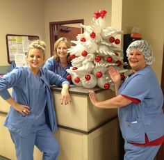 A Medical Christmas Tree The Nurses Decorated It With