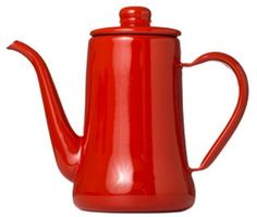 Storage Tip: Use an Enamel Coffee Pot for Olive Oil