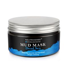 Black mud Dead sea Deep skin mask Cleans the skin and Instantly moisturizes
