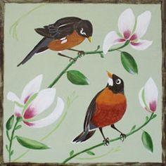 Social Artworking Canvas Painting Design - Magnolia Morning