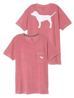 Campus Short Sleeve Tee in Soft Begonia/White $28.95- PINK - Victoria's Secret