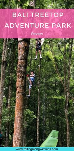 Bali Treetop Adventure Park is a great activity and is high on the list of Bali with kids things to do! Check out this review of a day there. #bali #baliwithkids #baliactivity Bali With Kids, Travel With Kids, Family Travel, Kids Things To Do, Stuff To Do, Bali Family Holidays, Bali Activities, Bali Honeymoon, Bali Travel
