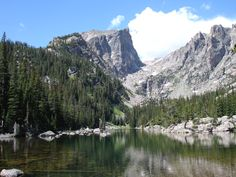 hike to Nymph, Dream & Emerald Lakes, Rocky Mountain Natl Park CO - this pic is my FAVORITE place (Dream Lake)