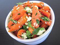 carrot & feta salad - so easy and healthy!