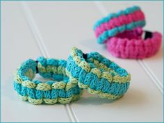 Great idea for the holidays - make bracelets from I-cord for all your friends and family! See my website for more info on the Ryedale Bracelet pattern: http://www.annaravenscroft.com/store/p68/Wyndlestraw_Designs/Ryedale_Bracelet